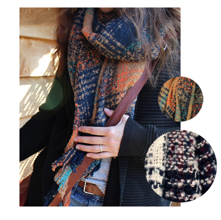 Check Knit Scarves from POM Wholesale