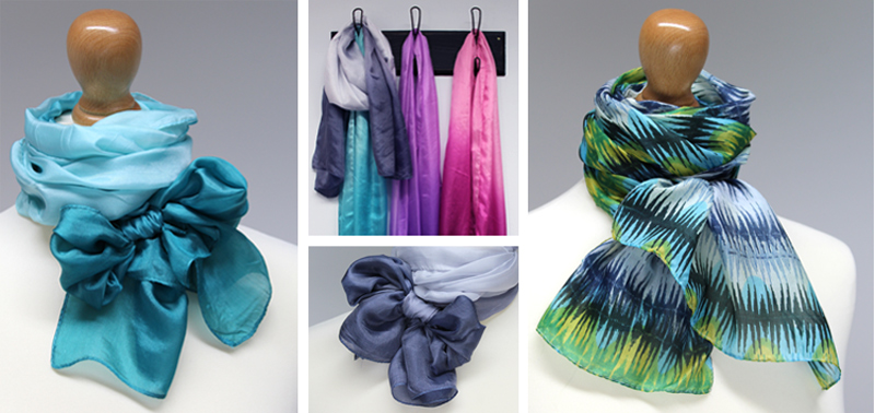 Wholesale ombre silk scarves