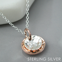 Sterling Silver Rose Gold Necklace