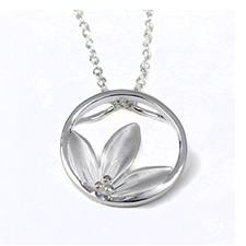 Silver leaf necklace from POM jewellery wholesale