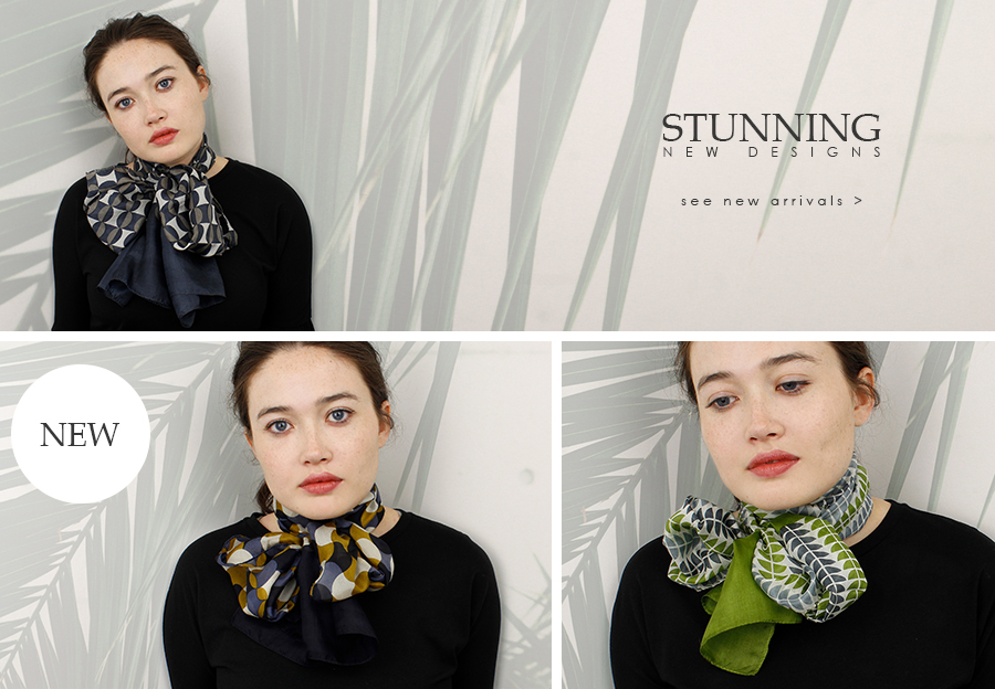 Wholesale printed silk scarves from POM wholesale scarf supplier