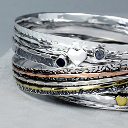 Wholesale silver spinning bangles