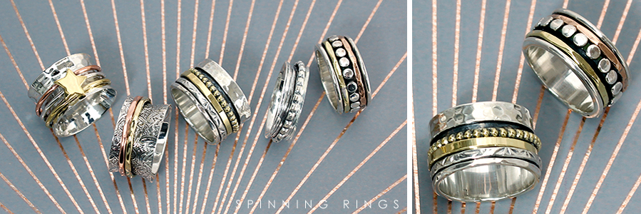 wholesale sterling silver spinning rings