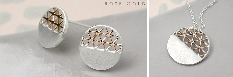 wholesale sterling silver and rose gold plated jewellery