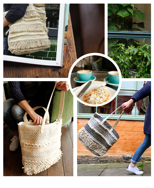 Wholesale fringed tote bags