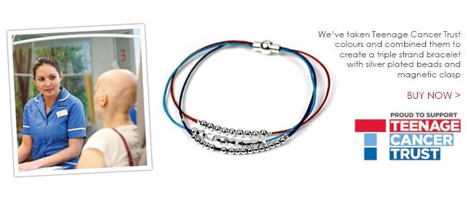 Teenage Cancer Trust charity bracelets