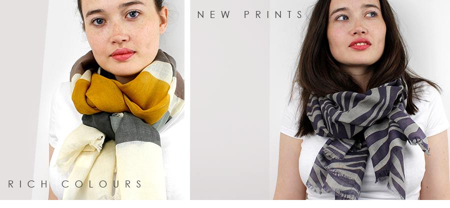 NEW printed wholesale scarves from POM