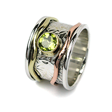 Silver gemstone wholesale spinning rings