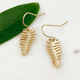 Wholesale golden leaf earrings