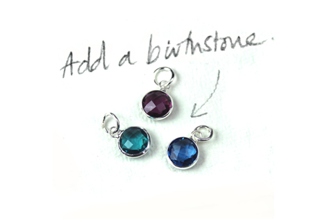 Birthstone charms from POM wholesale jewellery