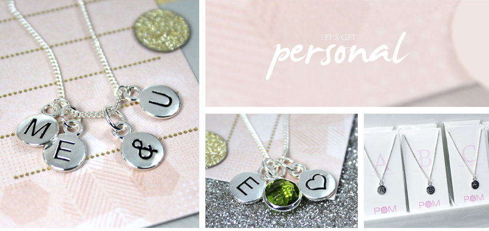 Silver Plated Personalised jewellery from POM