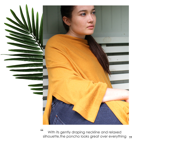 Summer Wholesale Ochre Poncho from POM