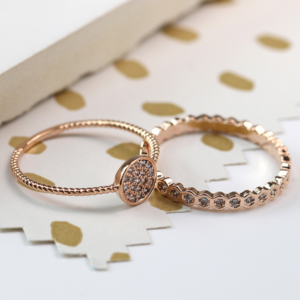 Pom wholesasle rose gold rings