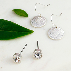 Wholesale silver plated earring set