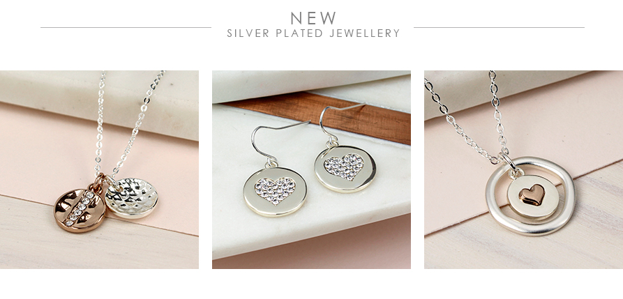 Silver plated jewellery and rose gold plated jewellery from POM jewellery wholesale