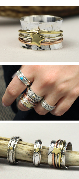 Sterling Silver Spinning Rings by POM925