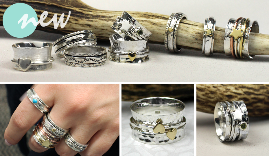 Wholesale silver spinning rings