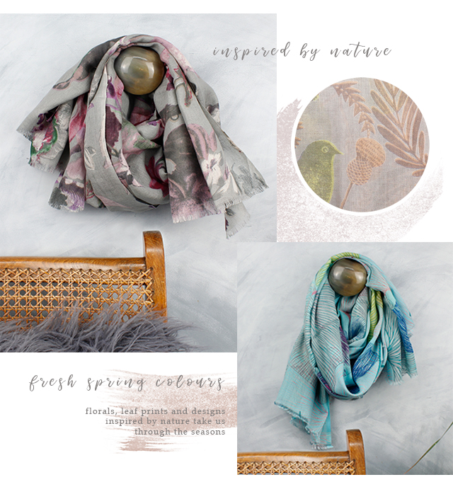 POM wholesale floral scarves for spring