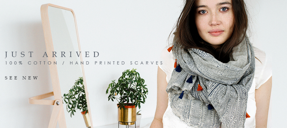 POM wholesale cotton scarves