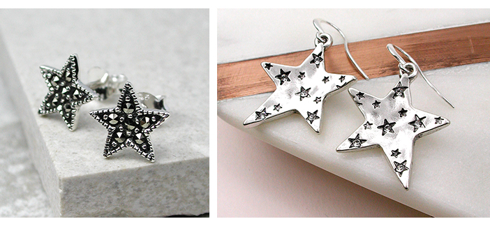 Wholesale crystal jewellery with stars