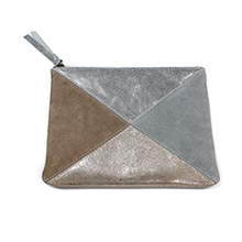 POM wholesale leather and suede clutch bags