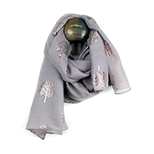 POM wholesale metallic print scarves
