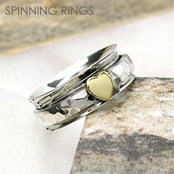 POM wholesale silver spinning rings