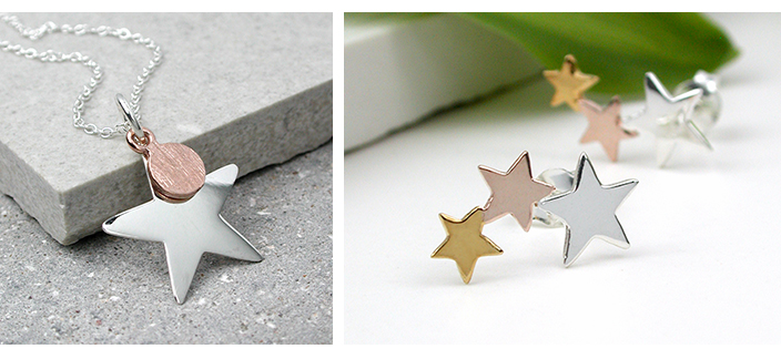 Wholesale silver star jewellery from POM925